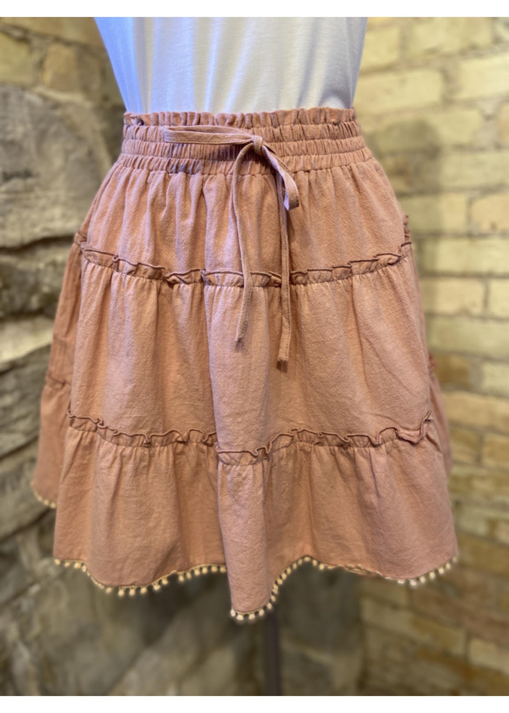 Esley High Waist Tiered Skirt