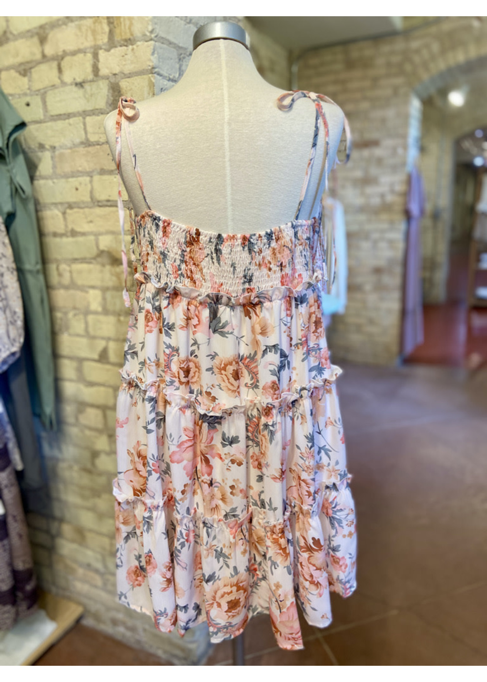 Esley Floral Spaghetti Strap Mini Dress