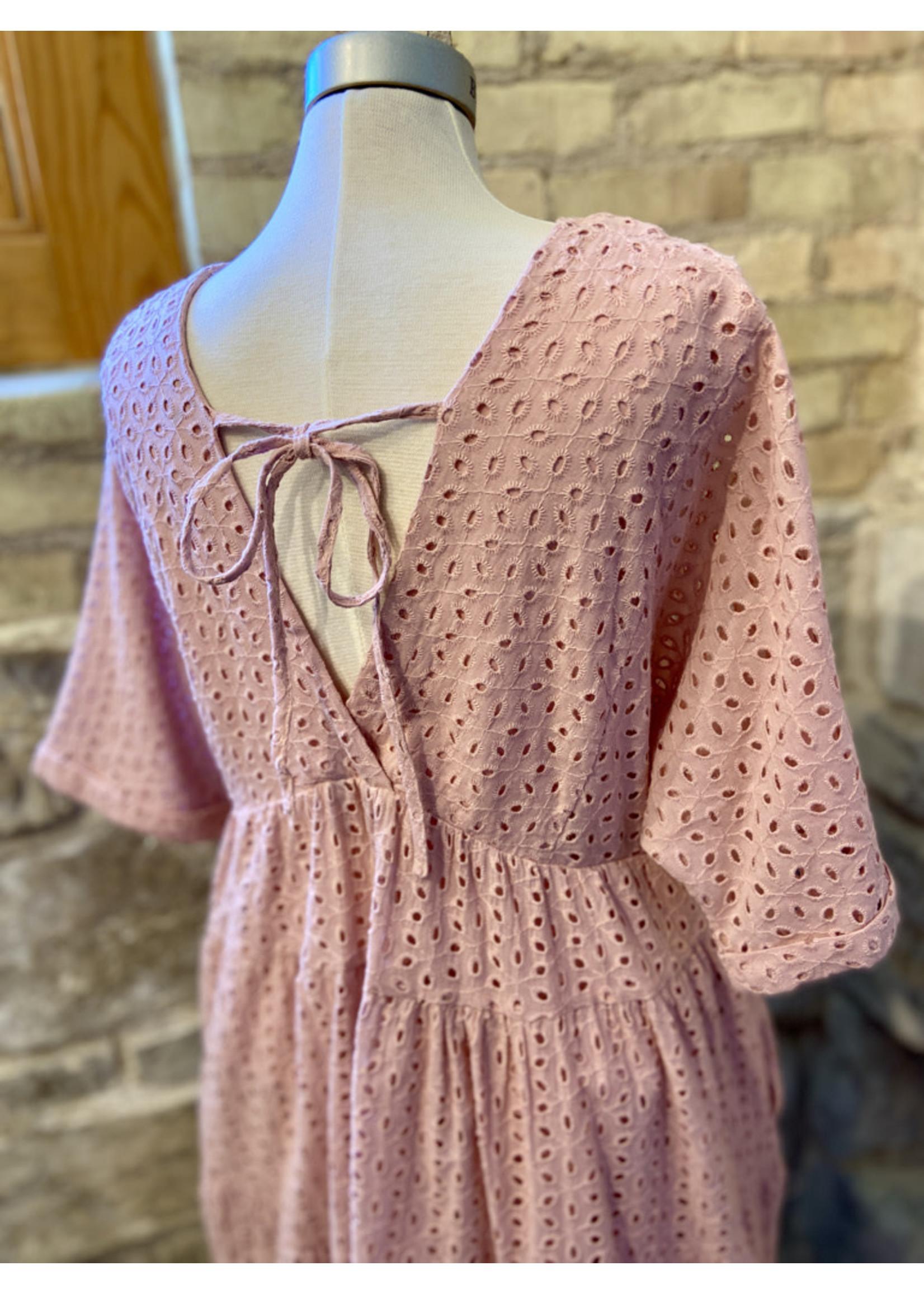 Wishlist Eyelet Mini Dress