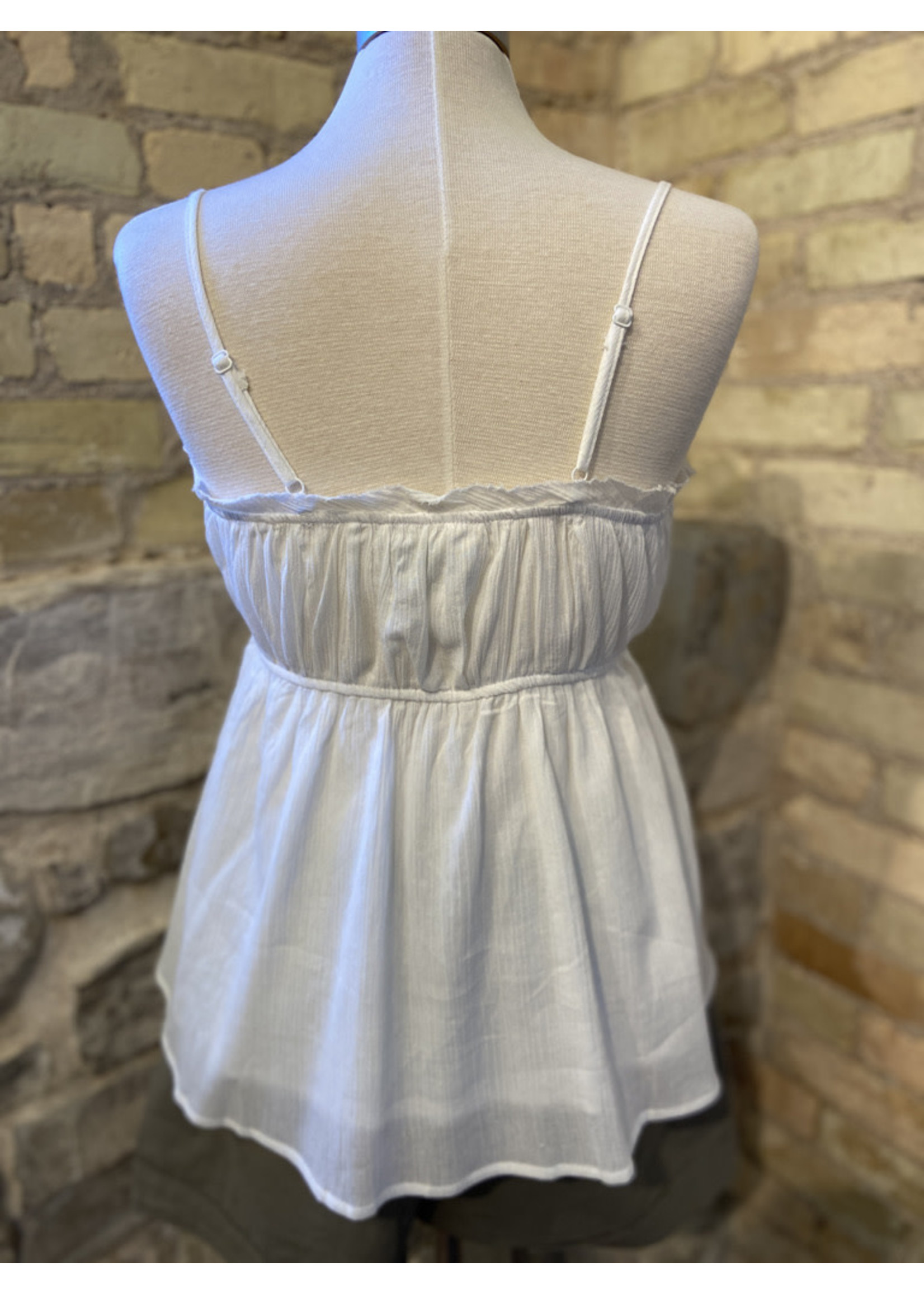 Wishlist Ruched Baby Doll Strapy Tank