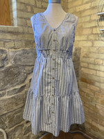 Doe & Rae Button Down Tiered Smock Dress