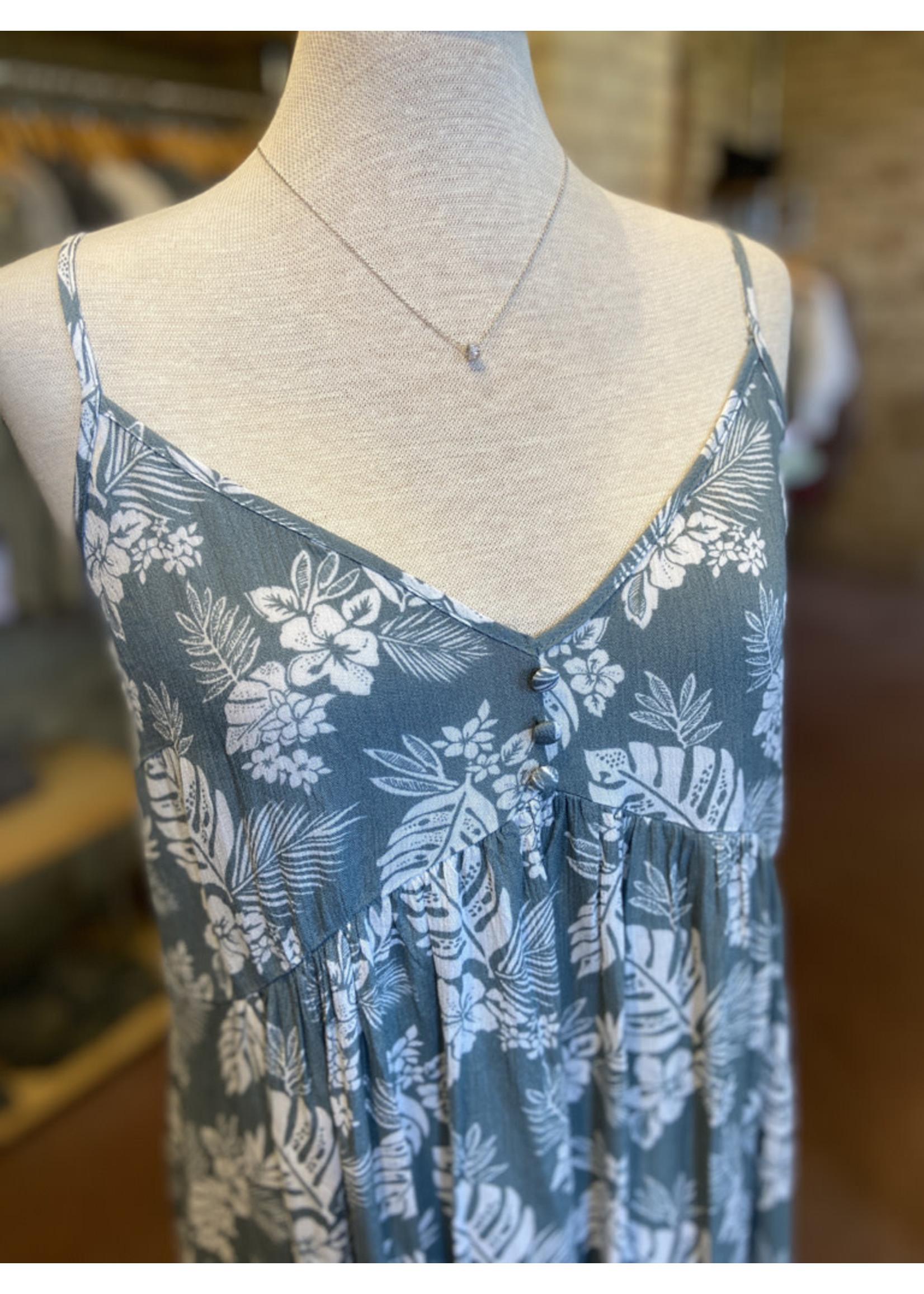 Blue B Tropical Print Mini Dress
