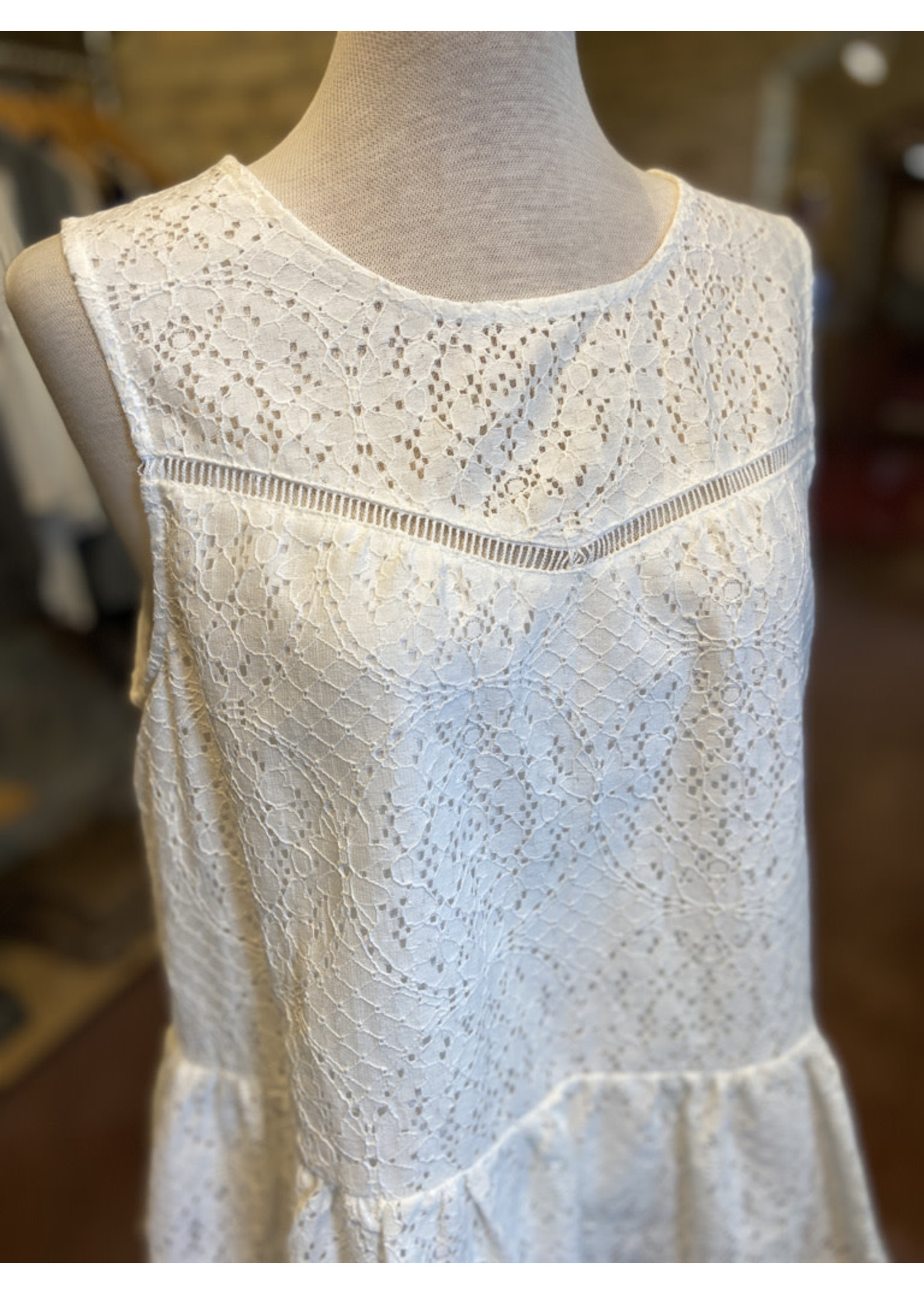 Andree by Unit Flared Hemline Lace Top