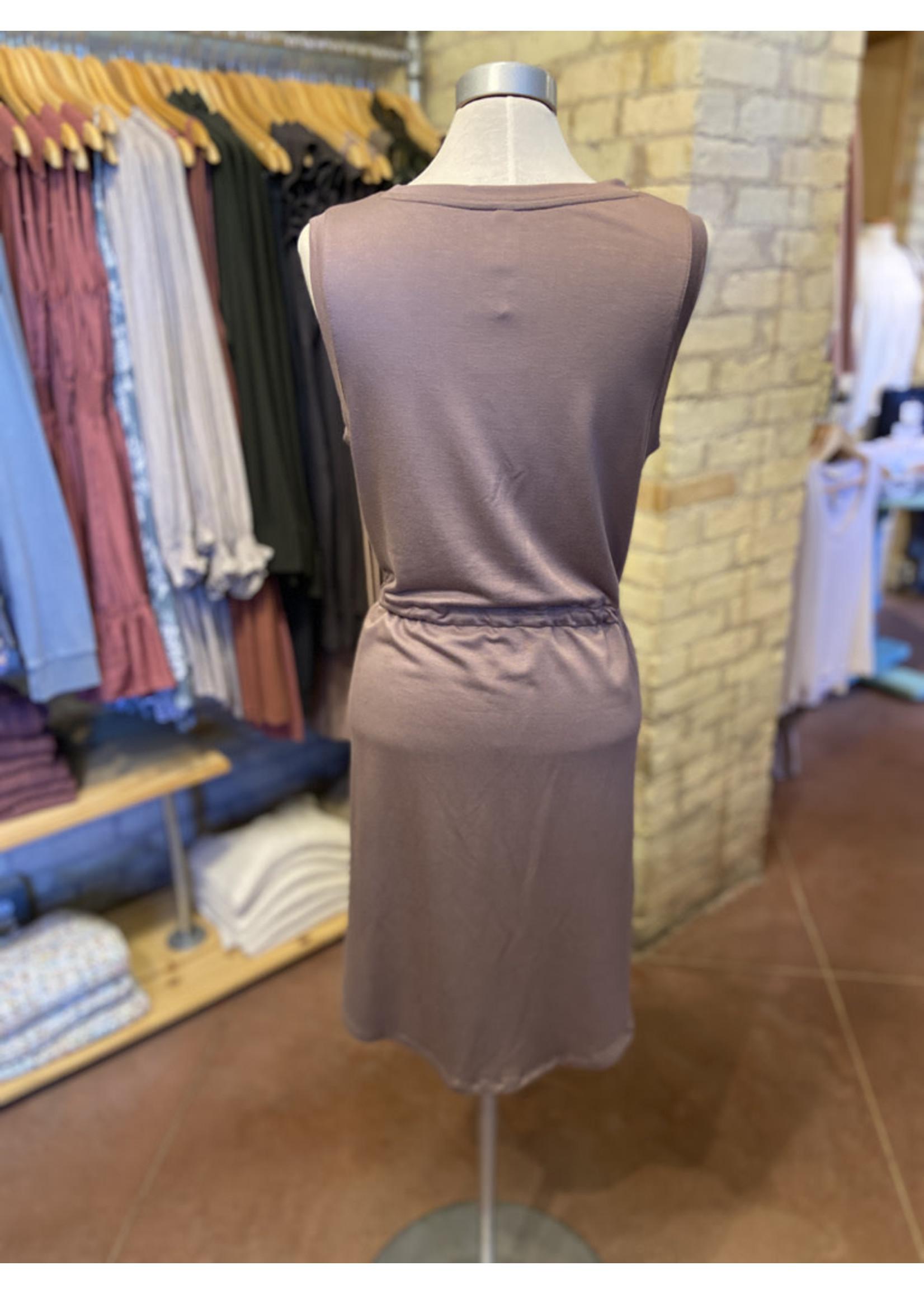 Wishlist V-neck Sleeveless Tie Waist Knit Dress