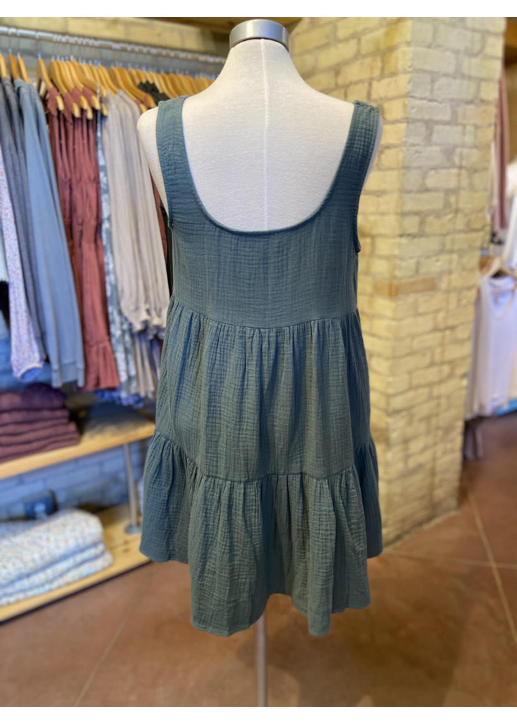 Wishlist Button Front  Tank Dress