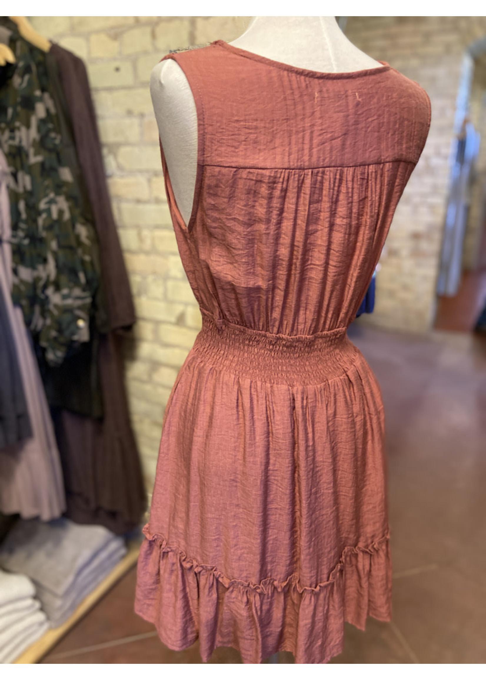 Wishlist Ruched Waist Tank Dress