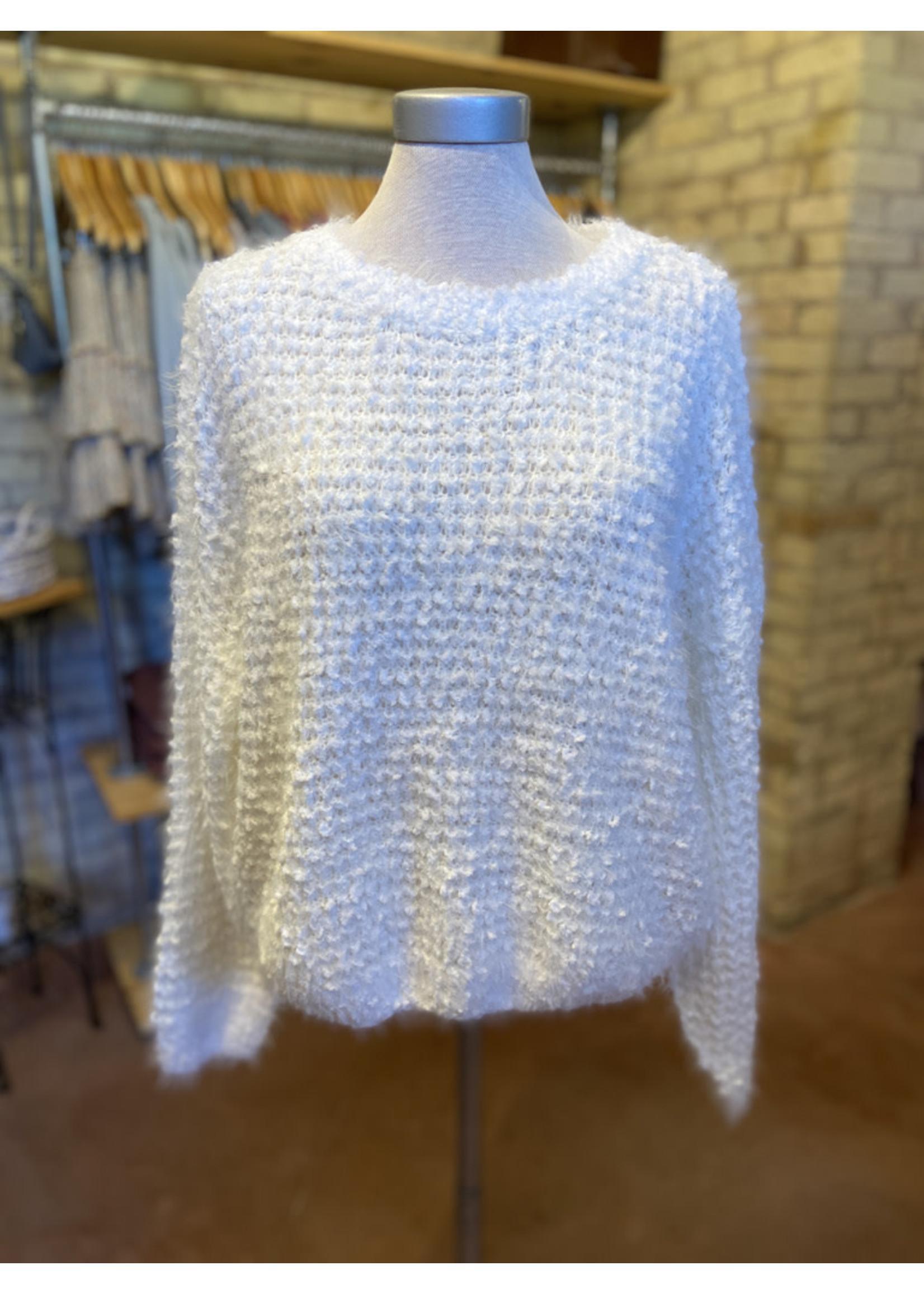 Voy Fuzzy Garter Stitch Pullover