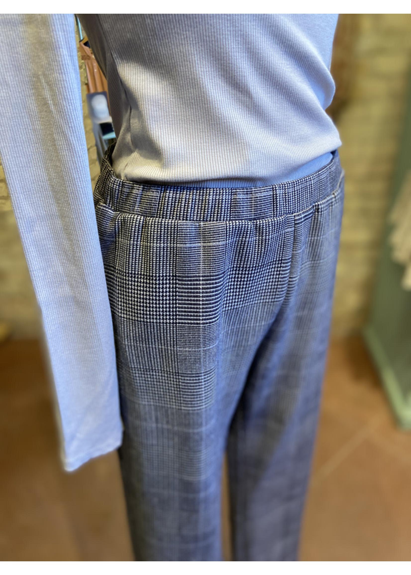 Hem & Thread Plaid Micro Suede Trouser
