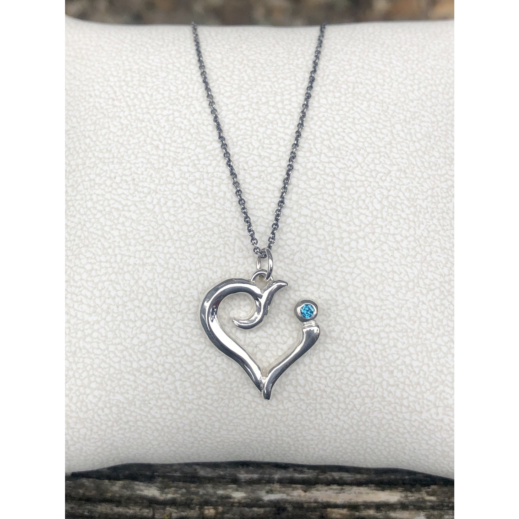 SoMe So Me Designs  Strength Charm in sterling silver with blue diamond