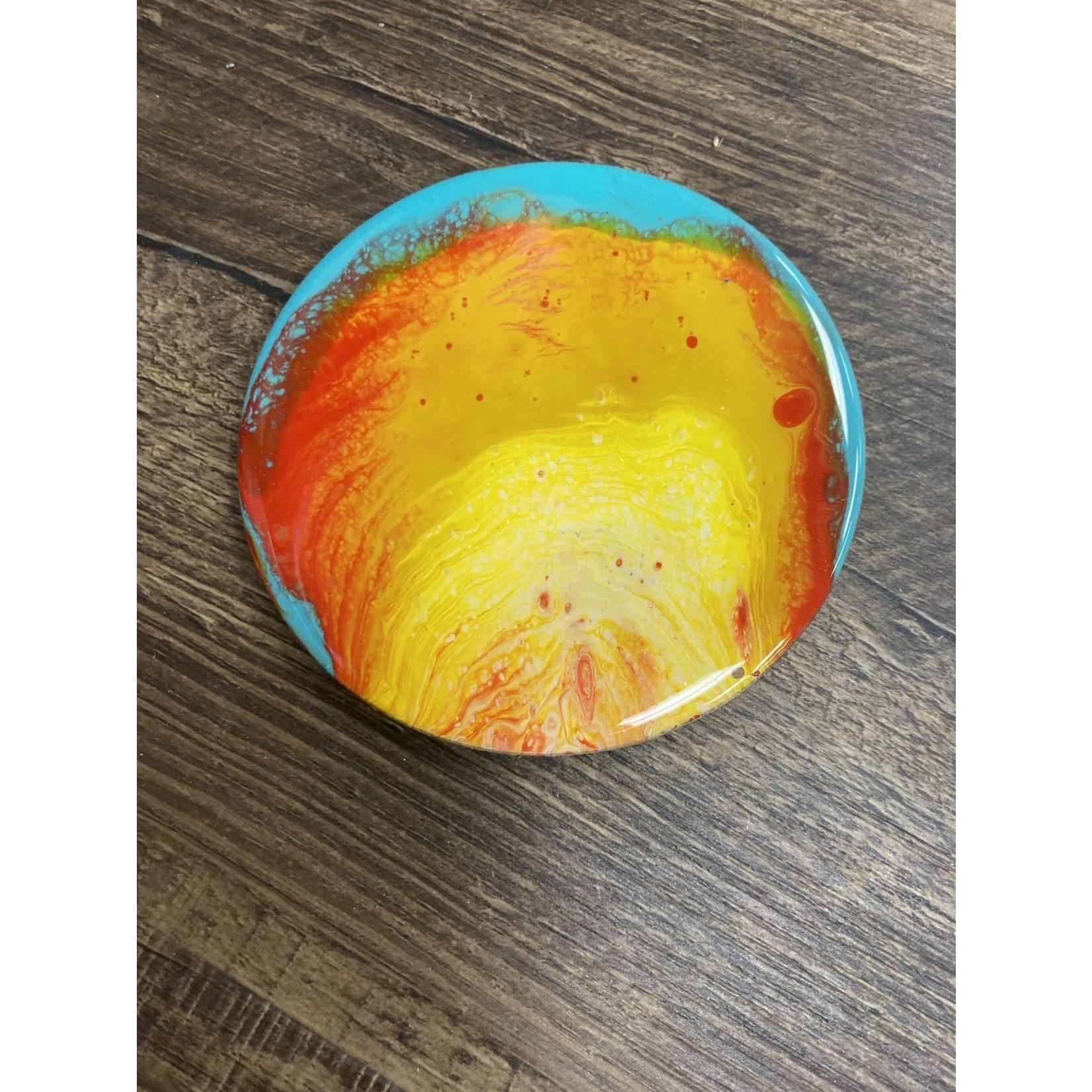 Hannah Wilson Hannah Eli Art Wooden Coaster Set - Fire and Ice