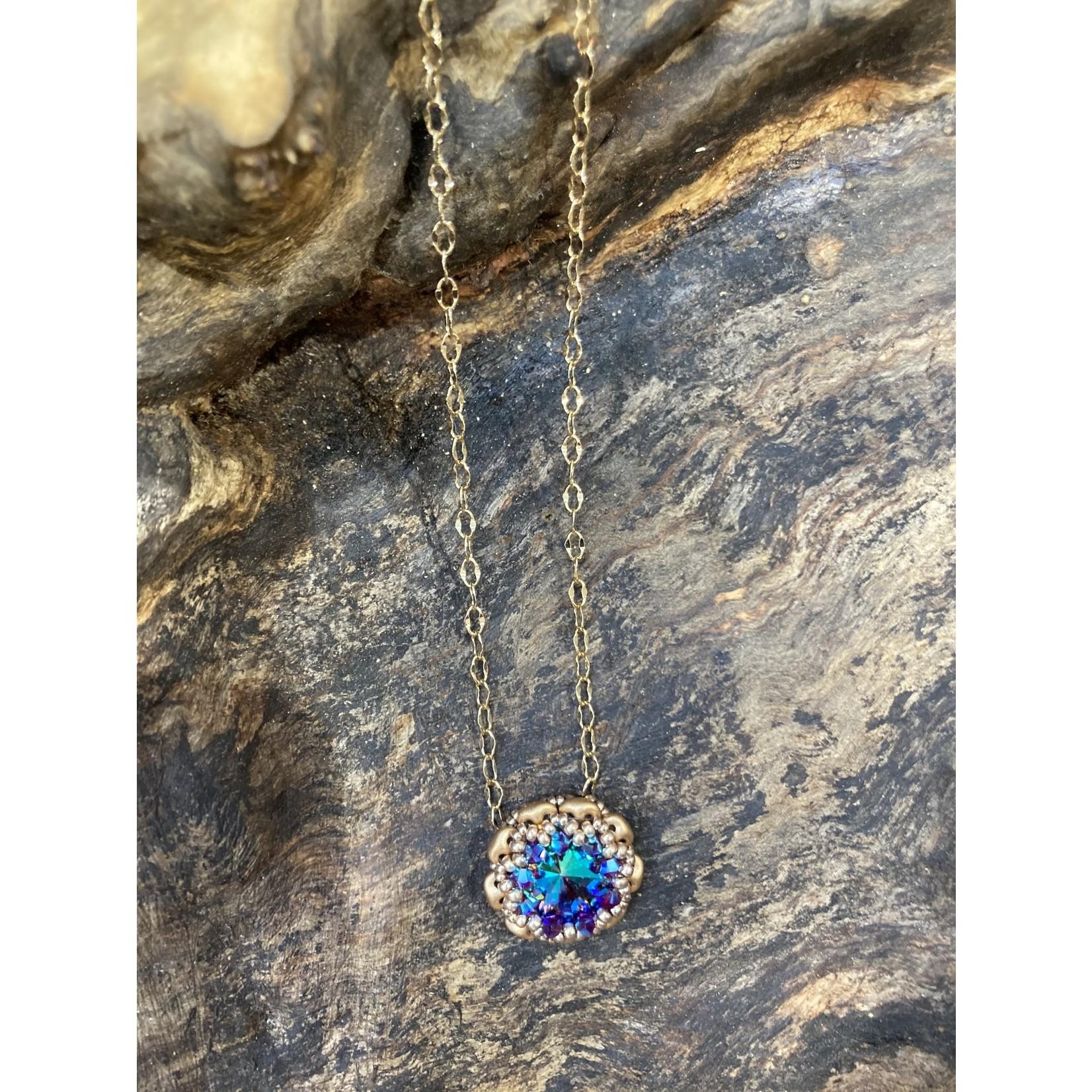 Jeanne Shuff Jeanne Marie | Bezeled Swarovski Rivoli necklace
