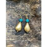 Charlene Campbell Charlene Campbell | Tear drop turquoise/jade earrings