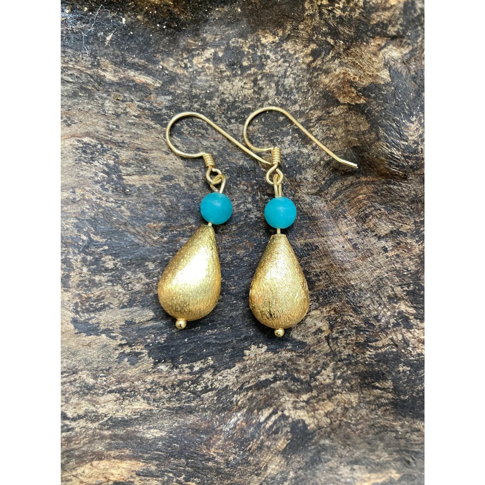 Charlene Campbell Charlene Campbell   Tear drop turquoise/jade earrings
