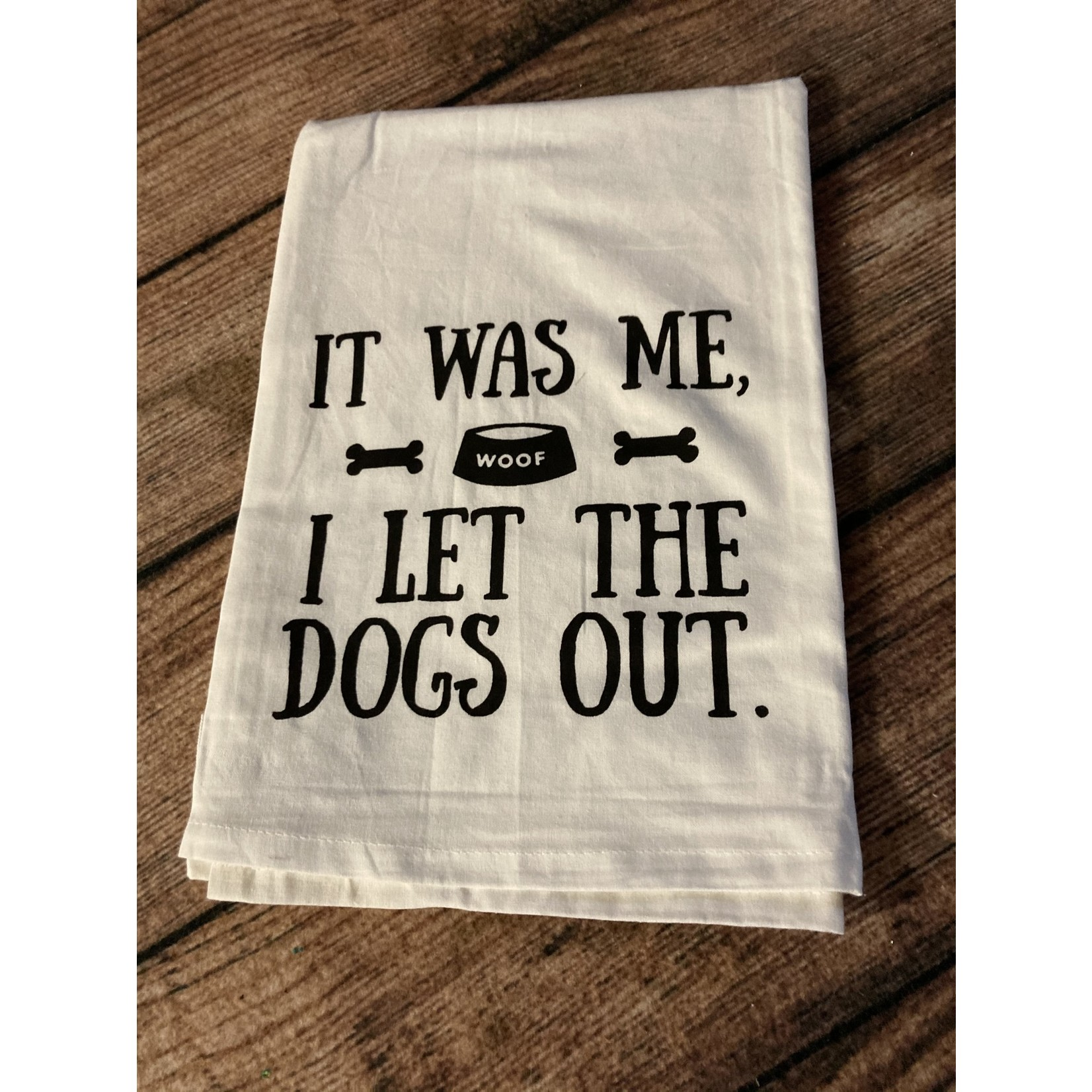 Twisted Wares Twisted wares Tea towel   Let the dogs out