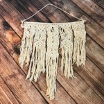 "Soul of the Party Soul of the Party Macrame Wall Hanging - 20"" long, 9.5"" wide"