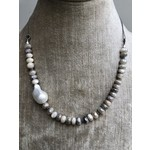 So Me So Me Designs| For the love of Pearls necklace with Baroque Pearl, Moonstone & Sterling Silver