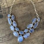 Silverheart Silverheart   Sterling Silver Kyanite bib style necklace