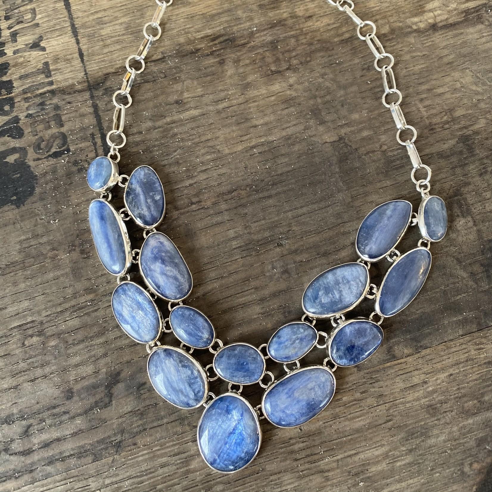 Silverheart Silverheart | Sterling Silver Kyanite bib style necklace