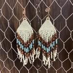 Hillary Linzy Little Grave Creek Fringe Earrings - Mint/Turquoise