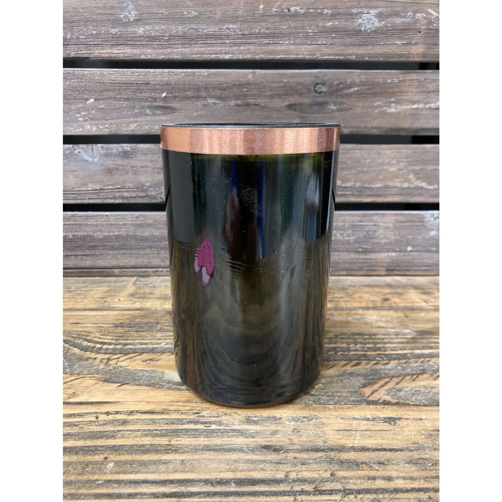 Susan Cowher Candles Uncorked| Amber with Copper Votive and Votive Holder