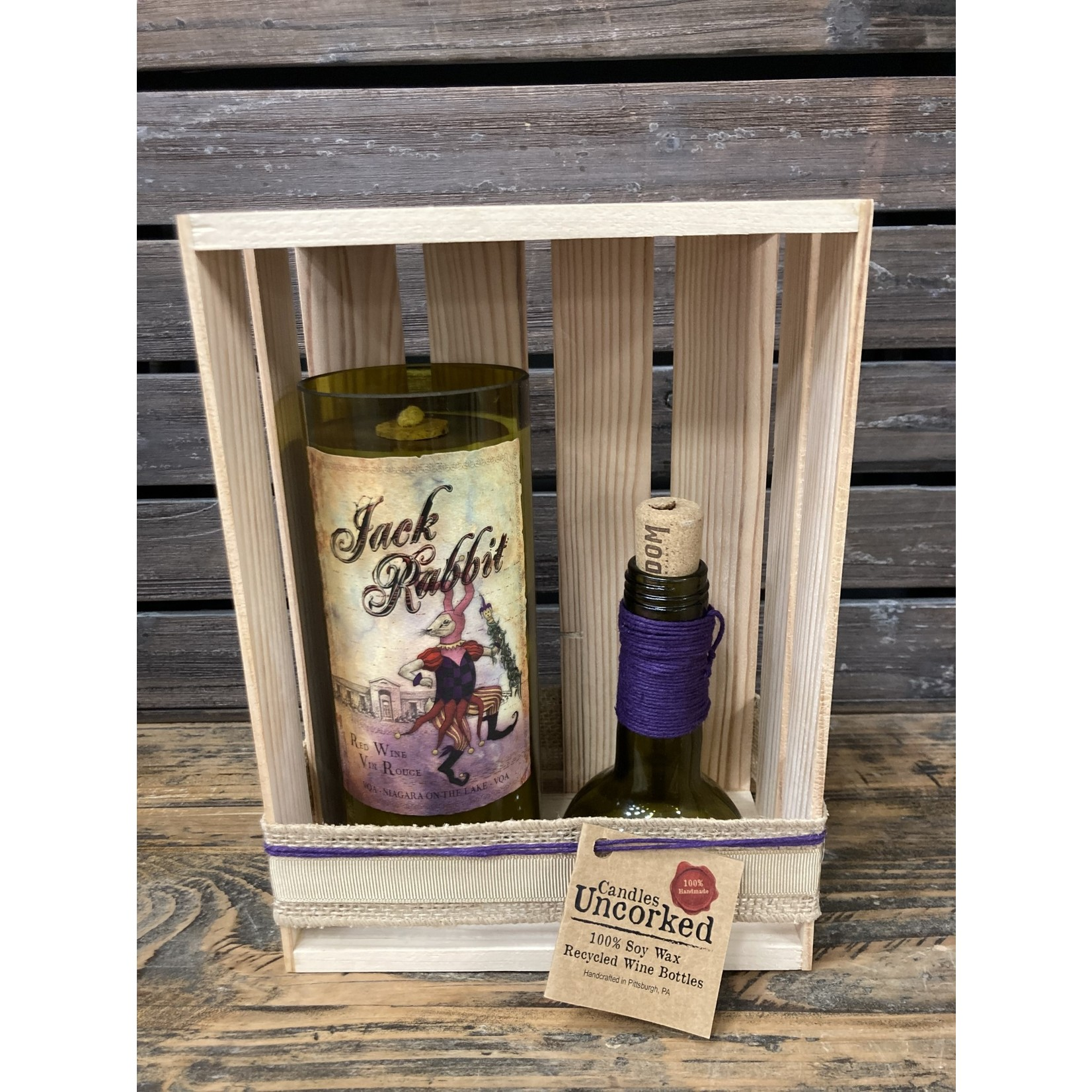 Susan Cowher Candles Uncorked| Jack Rabbit w/Top Mini Crate