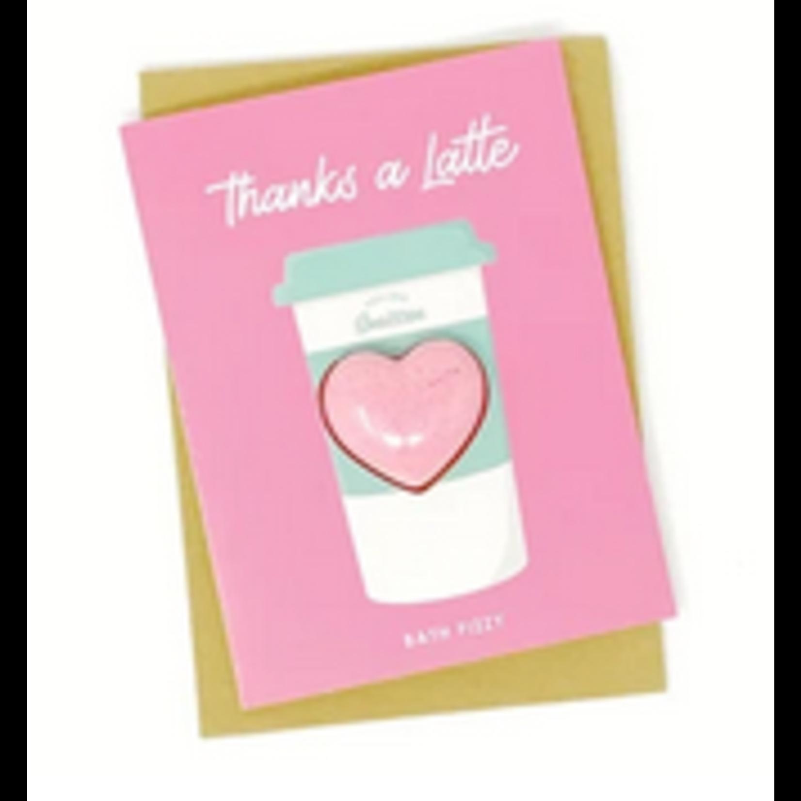 Feeling Smitten Feeling Smitten Thanks a Latte Bath Fizzy Card