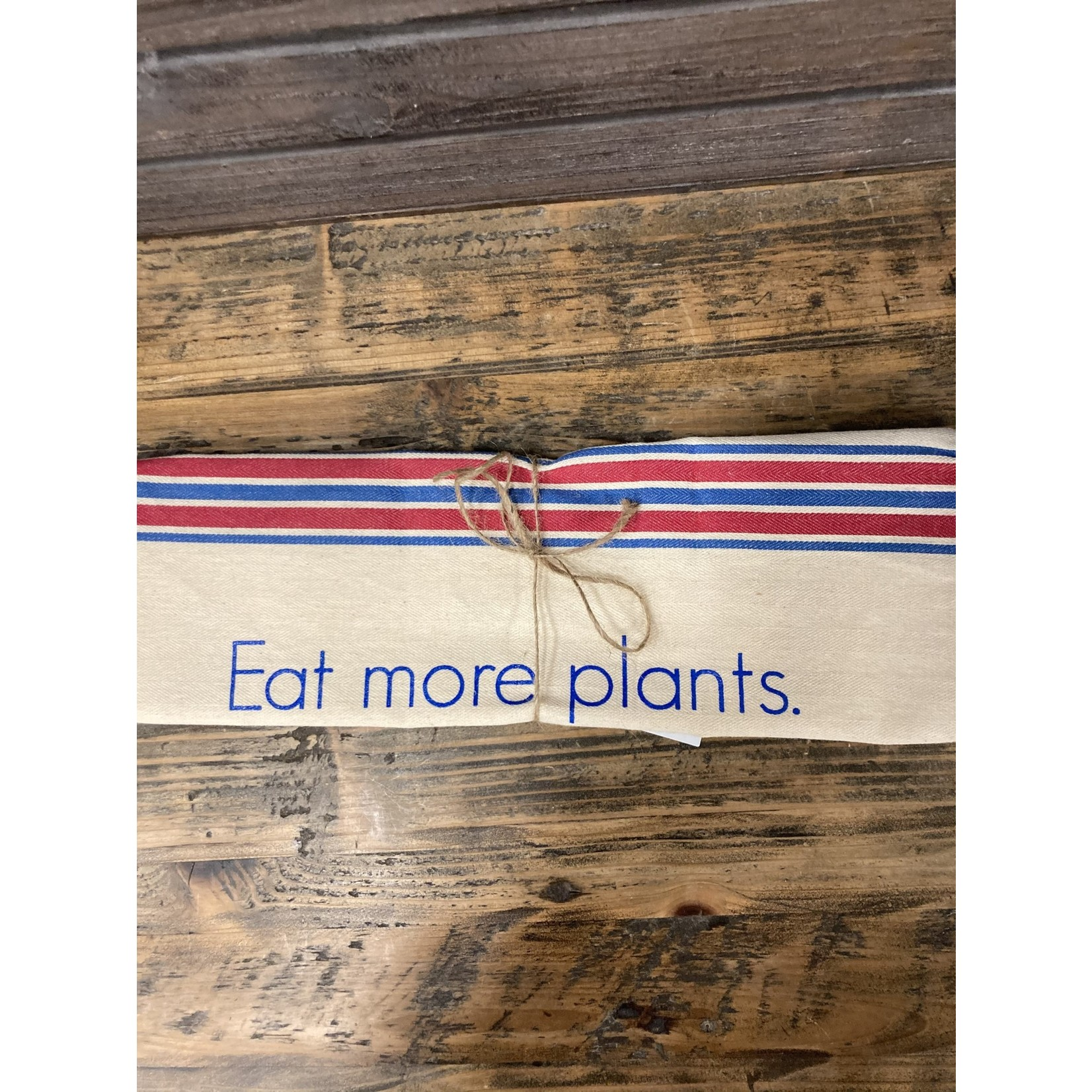 Sarah Kaminski Flour sack 100% cotton Tea towel Eat more plants