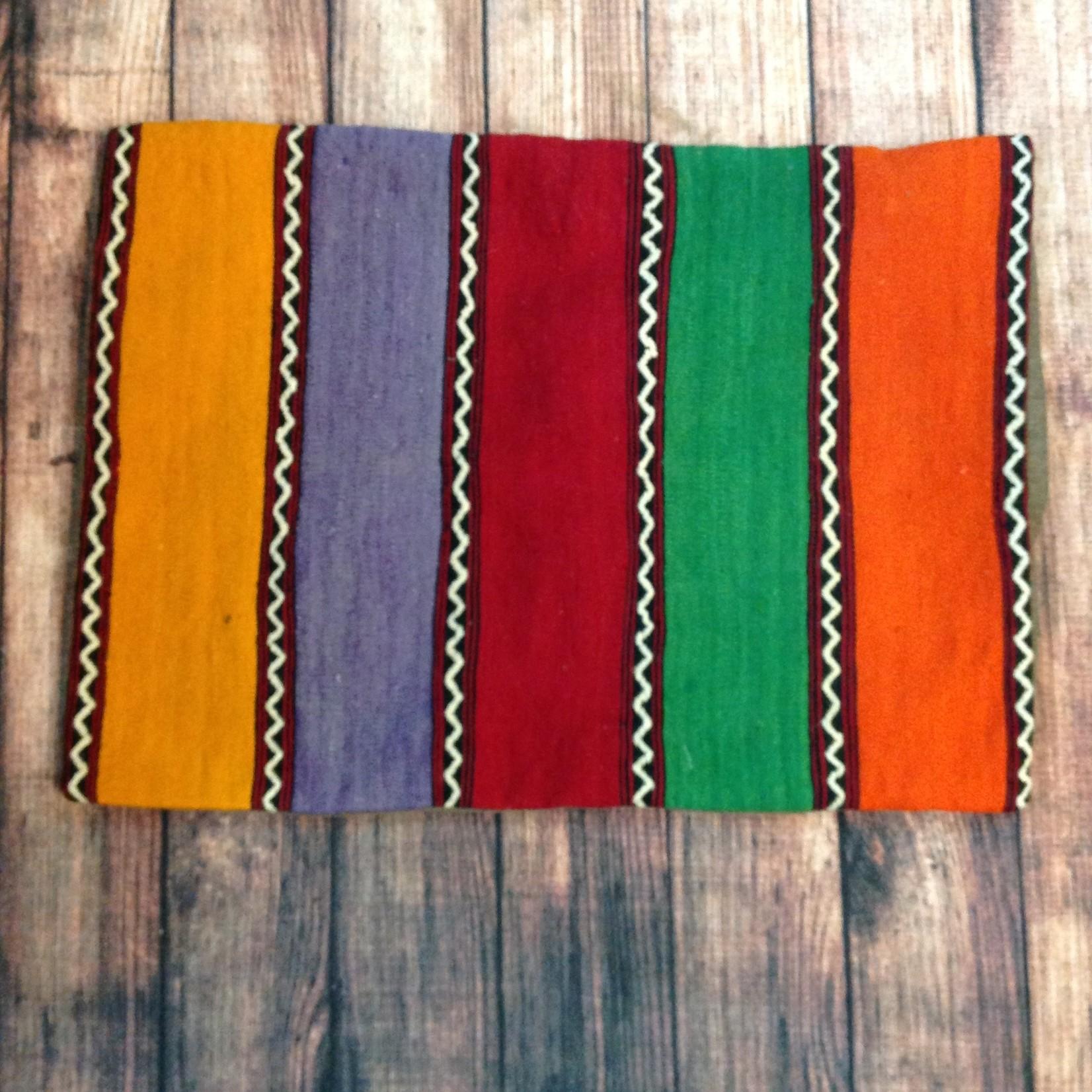 Gonca Teker Kocyildirim Gonca Teker Turkish Kilim Pillow Stripes - Brown Back 22 x 30