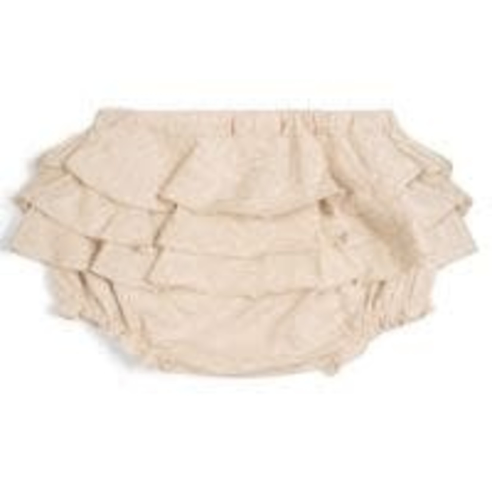 Milkbarn milkbarn ruffle shorts 3-6m oatmeal