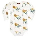 Milkbarn milkbarn one piece floral bicycle 6-12m