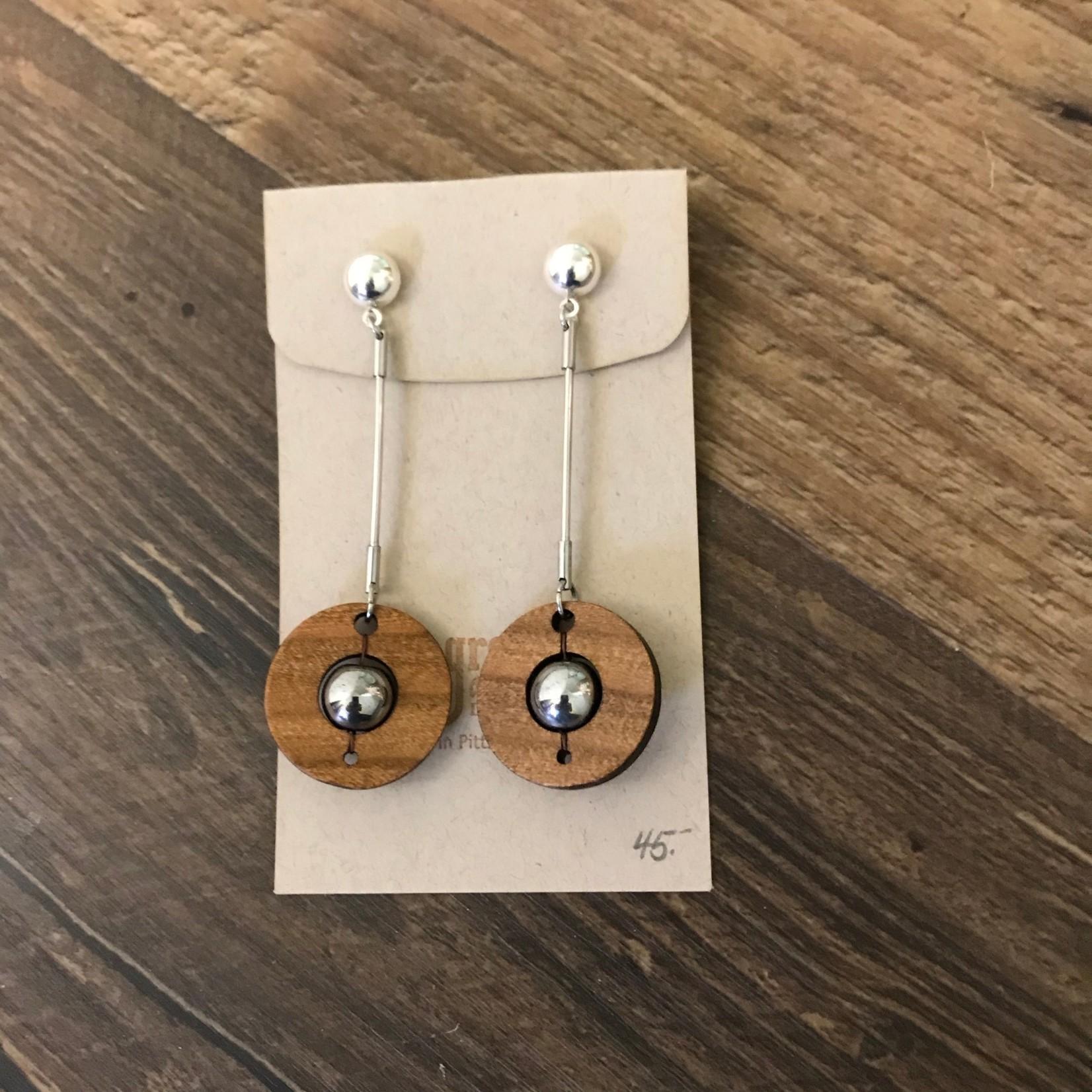 Valerie Hildenbrand Grove Avenue Design - FLW Round Cherry Earrings E02403