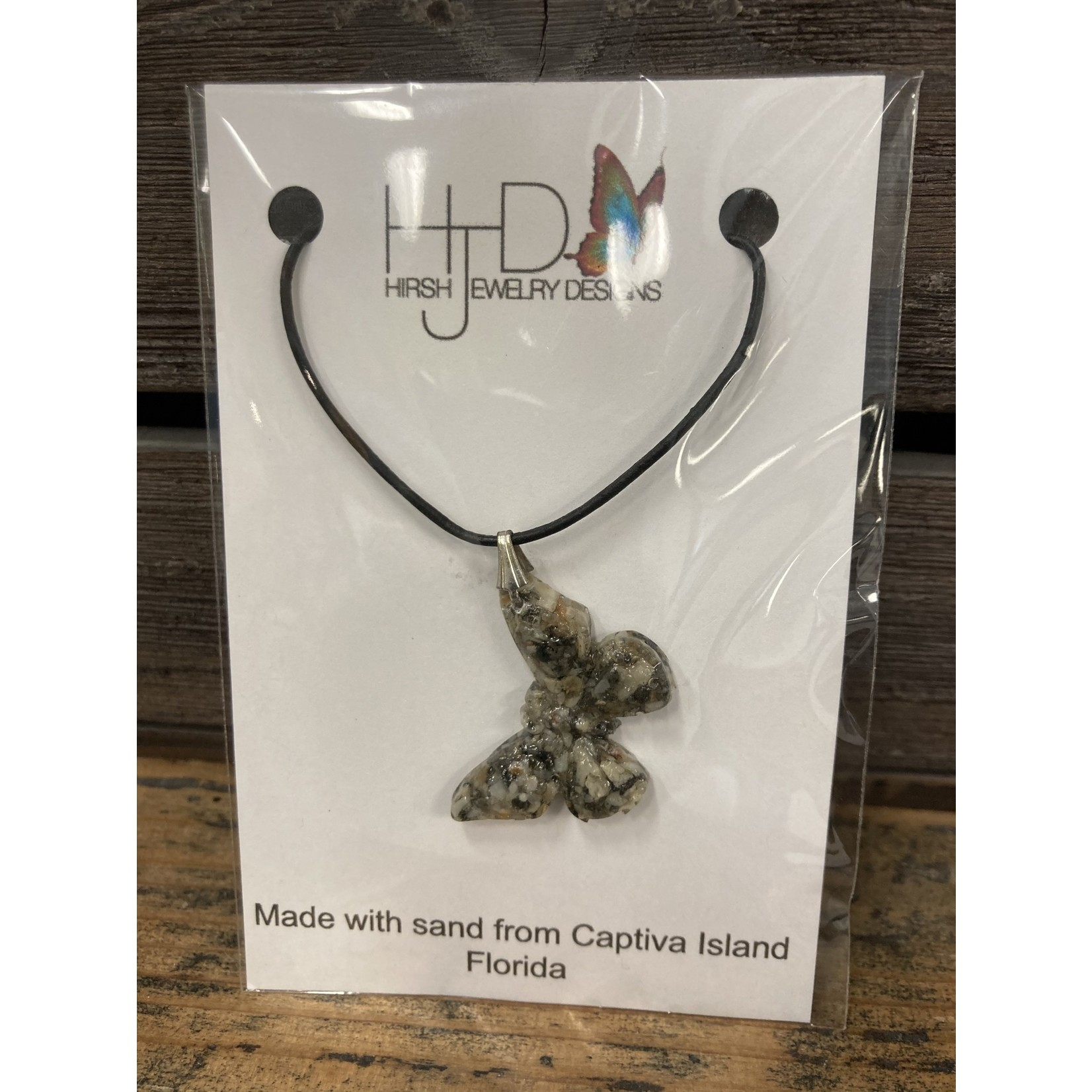 Colleen Hirsh Hirsh #63 captiva island sand butterfly necklace
