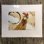 Craig Peterson Craig Peterson | Coffee stain | Watercolor| Rooster