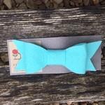 Meghann Jones Ink Personality Large Wool-felt Bow Clip- Light Blue