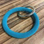 Ink+Alloy Ink+Alloy Seed Bead Key Ring Turquoise