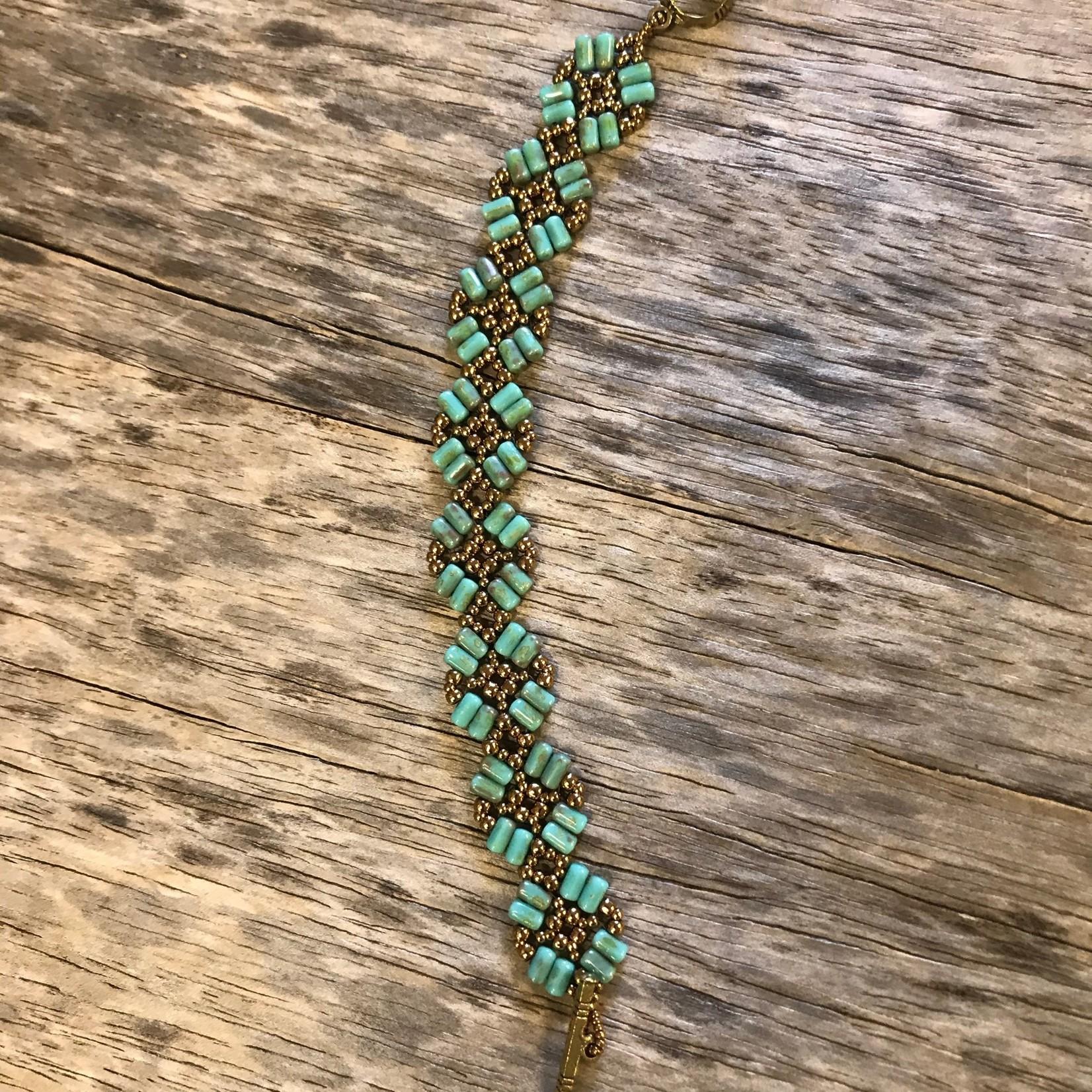 Jeanne Shuff Jeanne Marie Jewelry Bracelet - Turquoise Chech Rula Beads