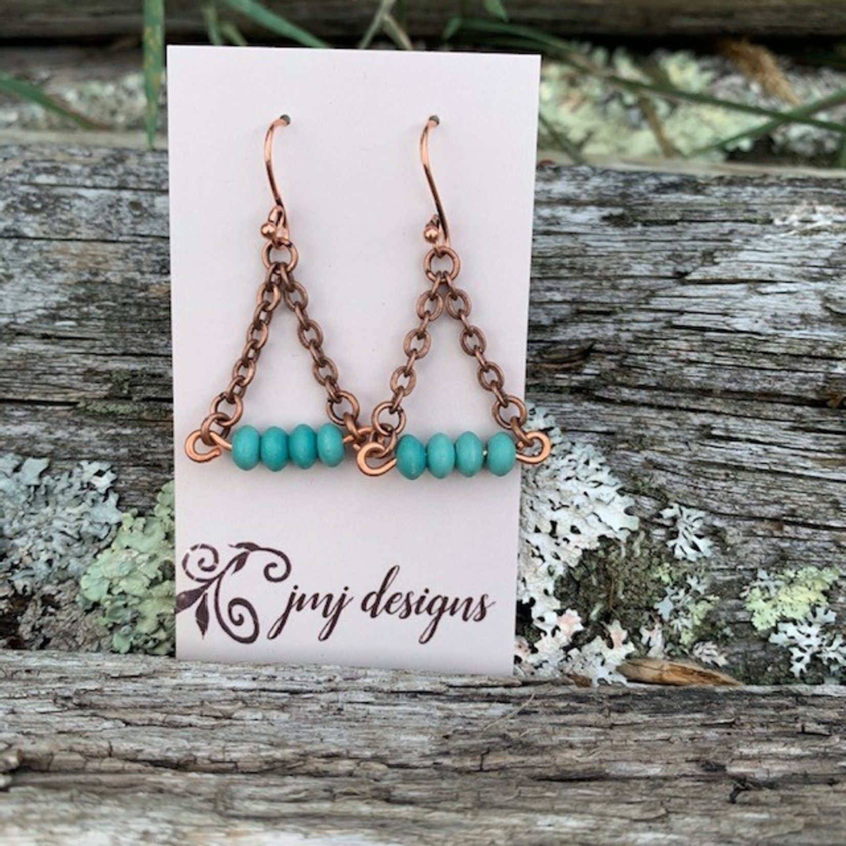 Julia Jones JMJ 720-1 copper turquoise earrings