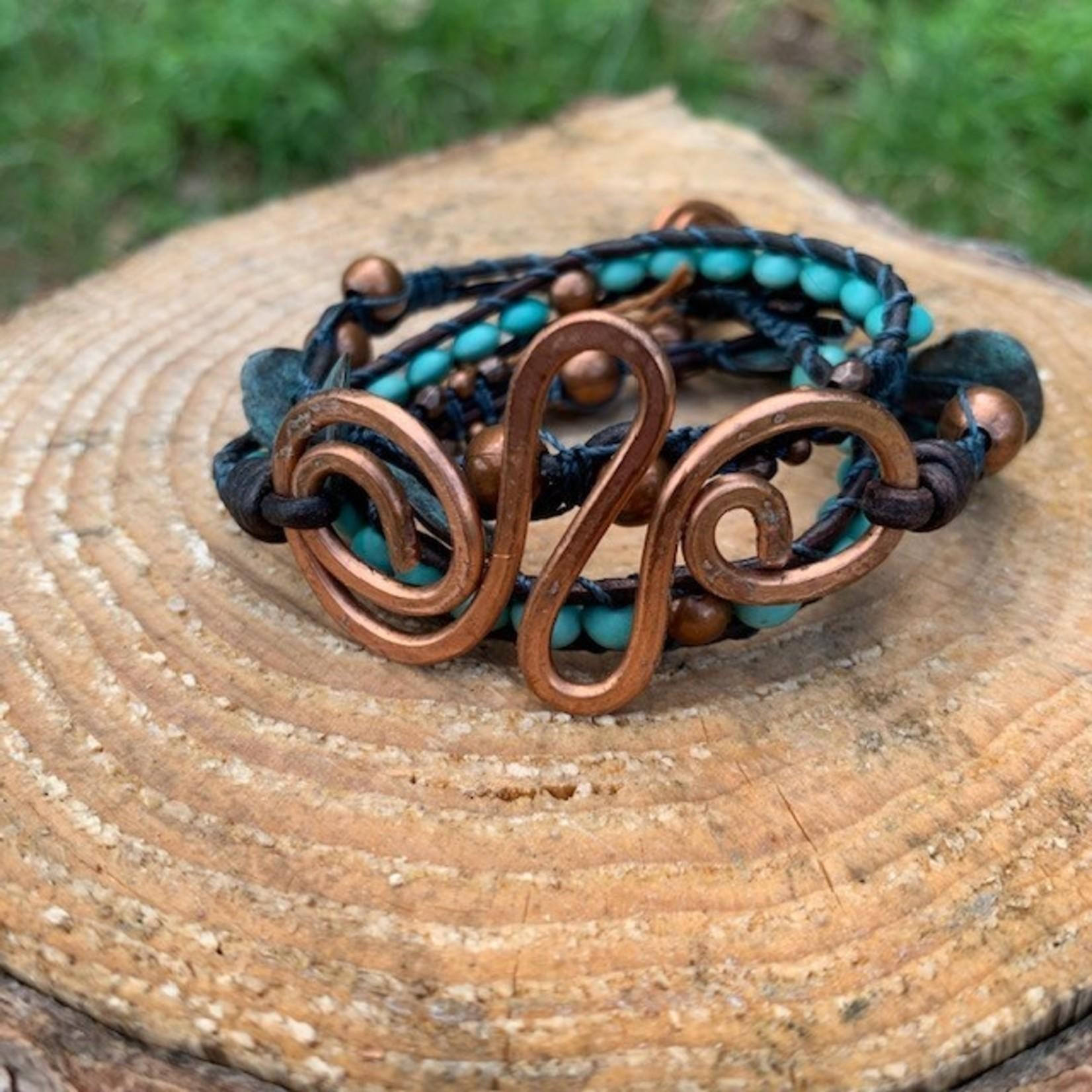 Julia Jones JMJ 720-15 3x bracelet with large swirl