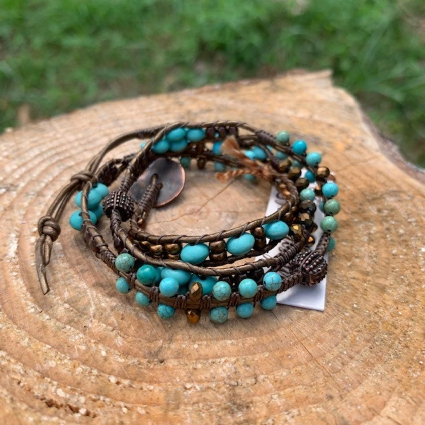 Julia Jones JMJ 720-16 3x bracelet copper turquoise thin