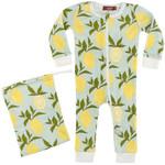 Milkbarn Milkbarn lemon pajamas 3-6