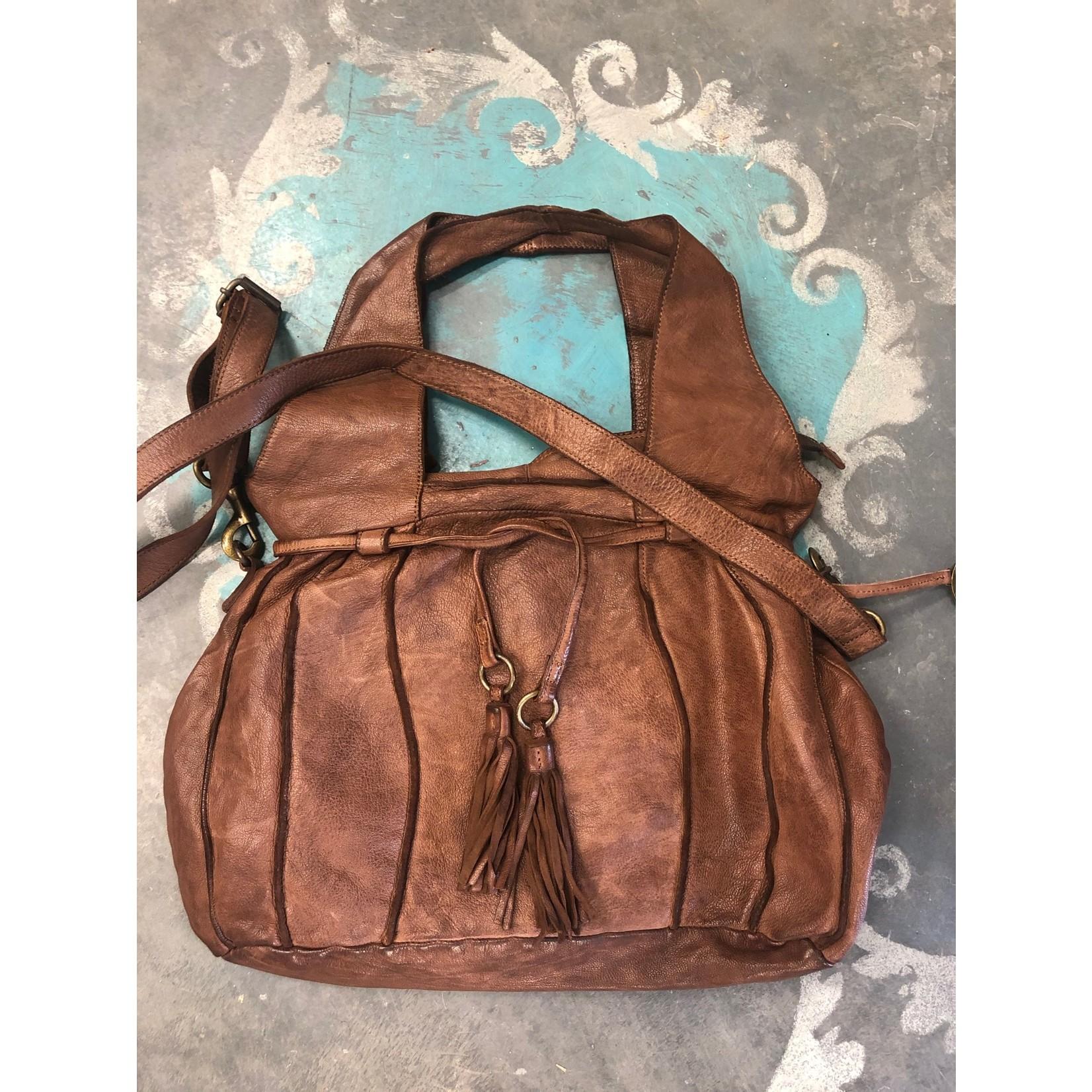 KOMPANERO KOMPANERO Leather Handbag - Venus in Cognac