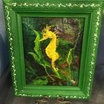 Pamela Abdalla Pamela Abdalla Painting - Seahorse
