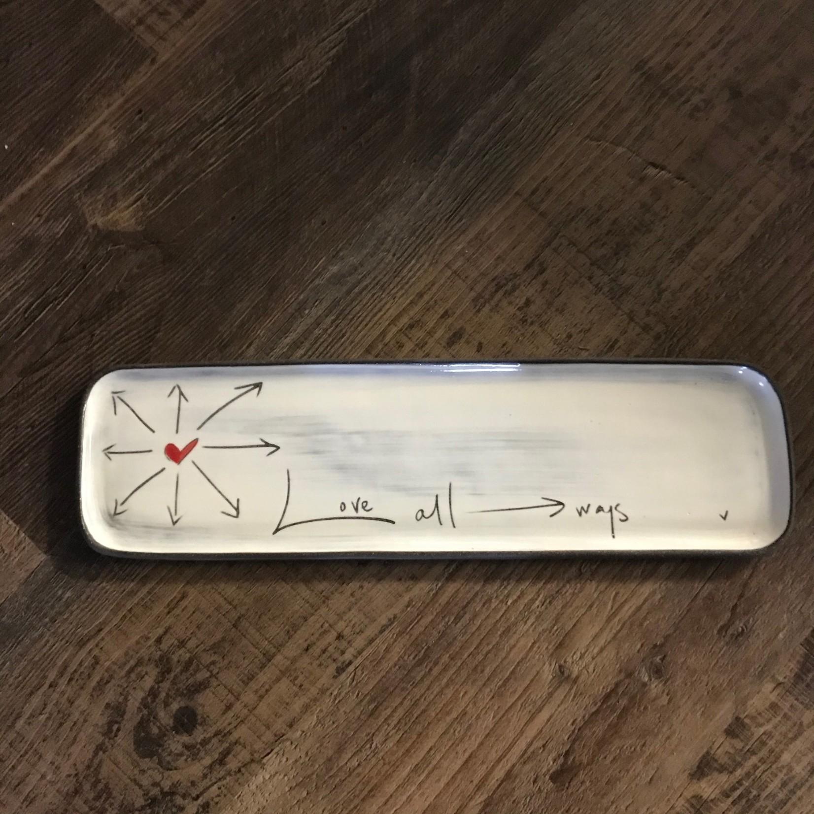Z Pots Z Pots Ceramic Long Rectangle Tray - Love All Ways