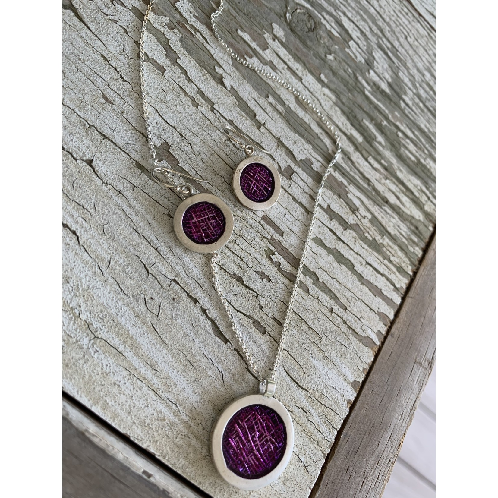 Liz Sabol Liz Sabol | Candy Crosshatch Magenta Earrings #LS-10353