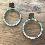 molliPOPdesign molliPOPdesign Acrylic Hoop Earring w. Walnut Stud