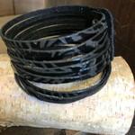 molliPOPdesign molliPOPdesign Embossed Leather Slit Cuff - Texas Rose Black