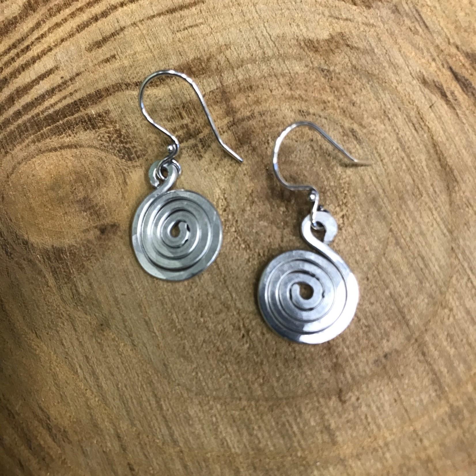 Julia Jones JMJ Designs Earrings 1020-10 SS Small Swirl
