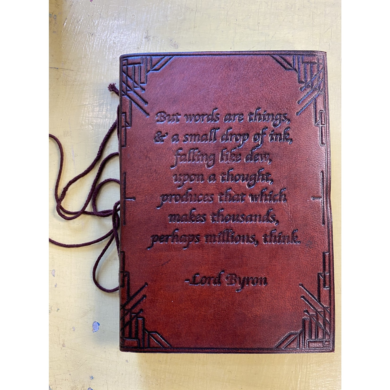 Soothie Leather Journal | Lord Byron Quote Embossed (Soothi)