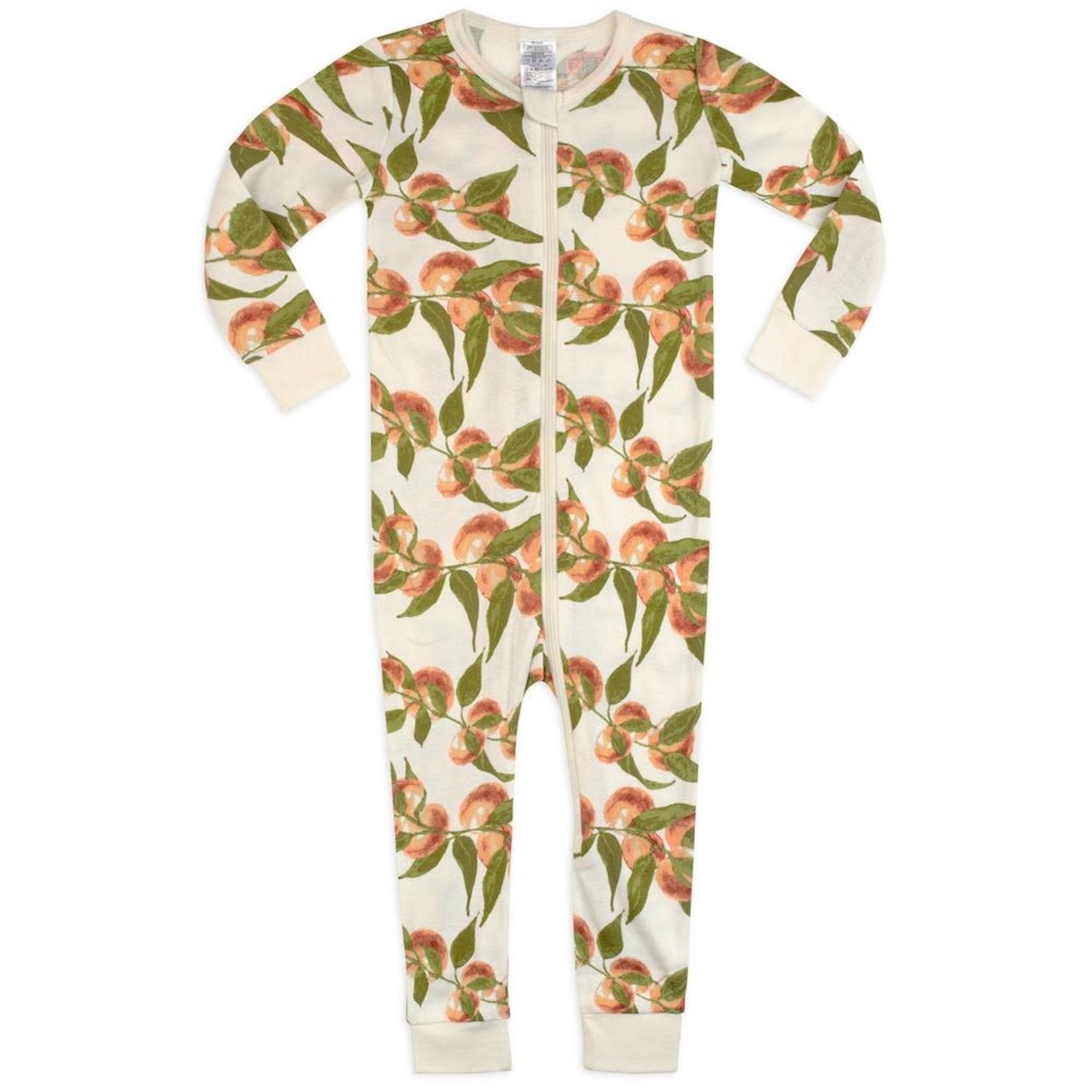 Milkbarn Milkbarn zipper PJ 's Peaches 3-6 months