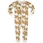 Milkbarn Milkbarn zipper PJ's Peaches  9 -12 months